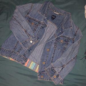Gap crop denim jacket
